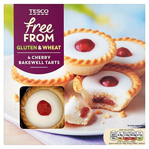 Tesco Free From Cherry Bakewell Tarts 4 Pack (And Cherry Tart Almond)