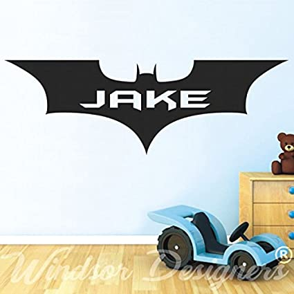 Personalised Batman Name Wall art stickers murals decals 425