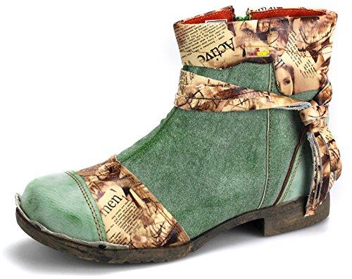 TMA Damenschuhe Stiefeletten Boots Damen Schuhe Stiefel 5001 Grün