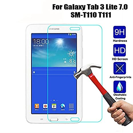 Helix Tempered Glass for Samsung Galaxy Tab 3 Lite 7.0 3G / t110/ t111 Screen Protectors