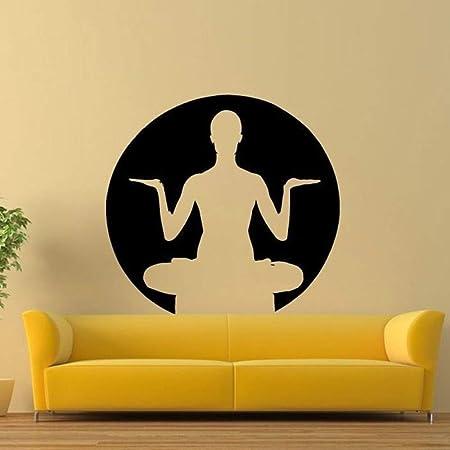 Jiuyaomai Yoga Pose Zen Mur Salon Maison Autocollants Vinyle