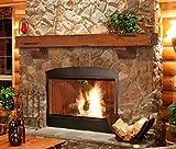 72 inch fireplace mantel shelf - Pearl Mantels 412-72-50 Shenandoah Pine 72-Inch Fireplace Mantel Shelf, Rustic Medium