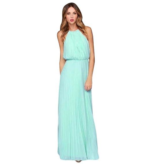 Vestido de mujer, K-youth® vestidos cuello hálter vestidos mujer fiesta vestido de
