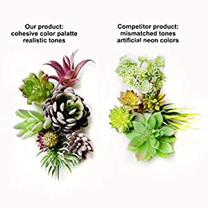 35 Gorgeous Artificial Succulent Plants Curated by Designers for Cohesive Colors, Most Realistic Fake Succulent Plants Available, Largest Set of Succulents 7