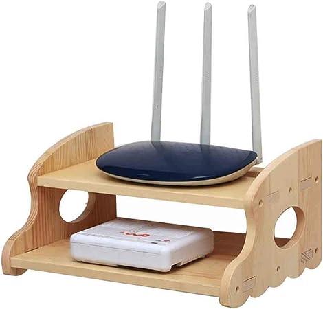 Estante flotante Remutador de madera Remotos Control Holder Enrutador WIFI Cajas de almacenamiento Estante de 2 niveles para el televisor Accesorios para TV Caja para televisor Caja superior para tele: Amazon.es: Hogar