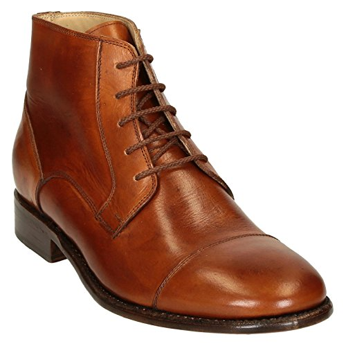 Leonardo Uomo Scarpe Pina3022cavallocuoio Ankle Boots In Pelle Marrone