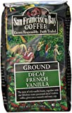 San Francisco Bay Coffee Ground, Decaf French Vanilla, 12 Ounce