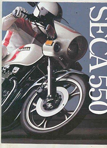 1981 Yamaha SECA 550 Motorcycle Brochure Poster (Seca Cycle)