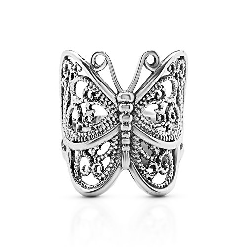 Koral Jewelry Butterfly Ring 925 Sterling Silver US Size 6 7 8 9 (6)