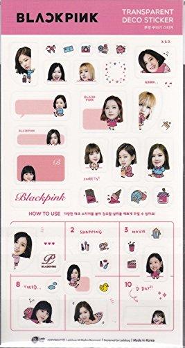 BLACKPINK/ブラックピンク透明デコレーションシール韓国ジス/ジェニー/ロゼ/リサ
