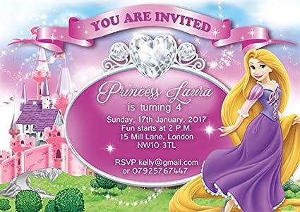 10 x Rapunzel enredados personalizado niños fiesta de ...