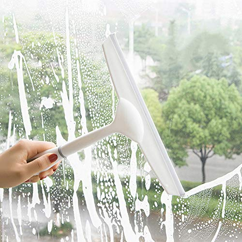 MaxFox Multifunctional Spray Water Glass Scratch Car Glazing Door Floor Washing Wiper Brush for Home Window,Desktop Floor Cleaner (White) -
