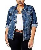 Style & Co Plus Size Denim Jacket (16W, Mosaic)