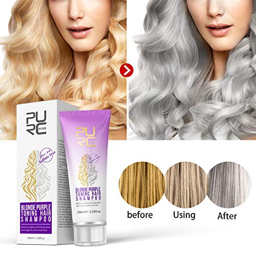 BrassAway Revitalizing Shampoo, 100ml Purple Shampoo For Blonde Hair Revitalize Blonde Bleached & Highlighted Hair