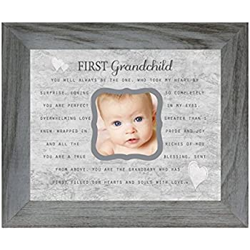 Amazon.com: The Grandparent Gift Co. First Grandchild Photo Frame ...