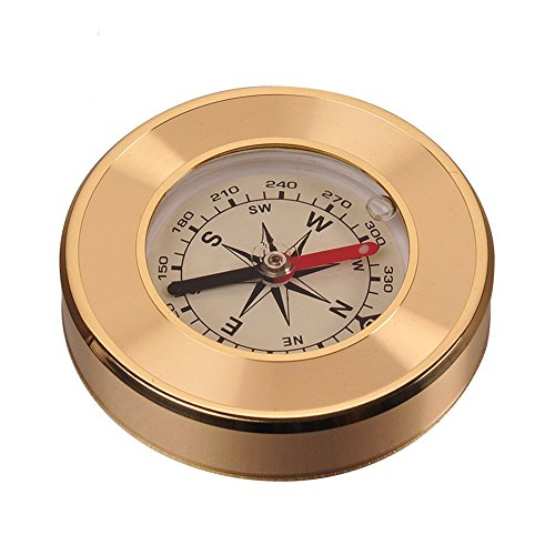 Ezyoutdoor Magnetic Navigation Baseplate Compass Multifunction Military Brass Army Metal Sighting High Accuracy Waterproof Camping Emergency for Hiking Camping Night Fishing