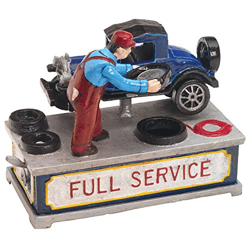 Bits and Pieces - Model T Cast-Iron Mechanical Bank - Novelty Personal Coin Bank for Car Lovers and Collectors