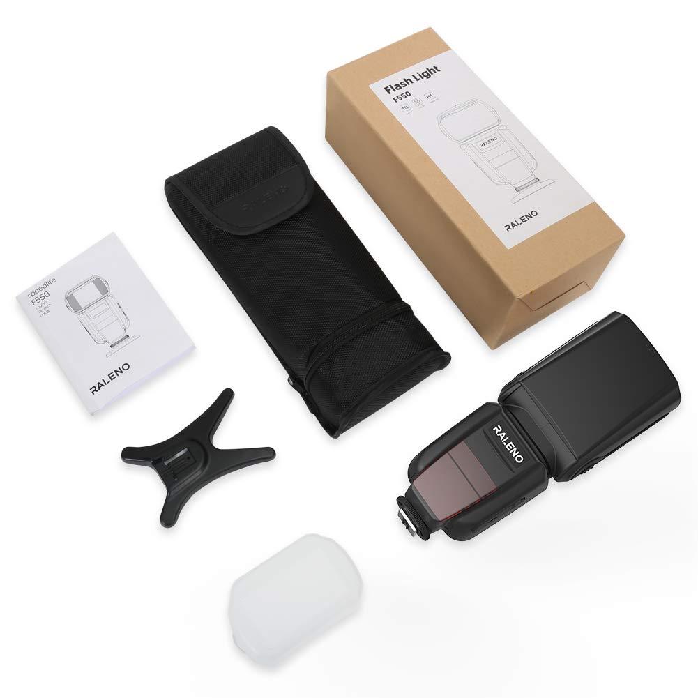 raleno Canon Flash Dispositivo Professional Flash Kit con Wireless Flash Trigger 1//8000/HSS Wireless Flash Speedlite GN58/2.4/G inal/ámbrico Master Slave para Canon