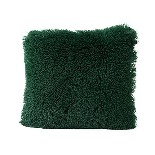 Giulot Long Pile Soft & Cuddly Shaggy Faux Fur Cushion Cover Soft Cushion Chenille Cushion Cover Modern Fluffy Textured Cushion Covers Luxury Pillow Cases Sofa Chair Bed Throw Cushions Covers