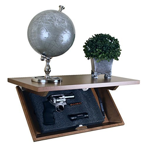 Covert Cabinets HG-21Gun Cabinet Wall Shelf Hidden Storage, Espresso