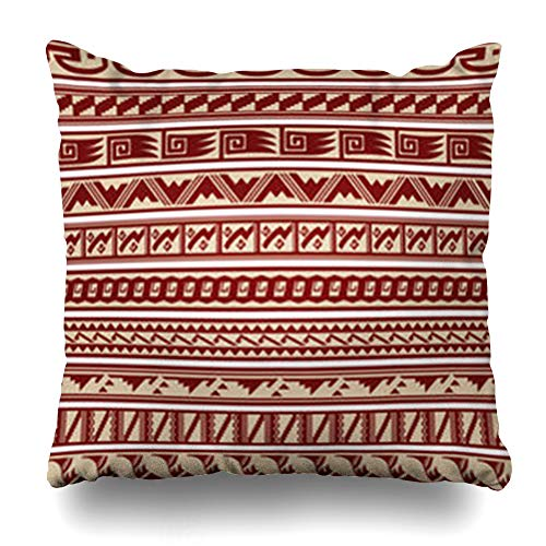 InnoDIY Throw Pillow Covers Tribal Southwest Southwestern Border Pattern Designs Hopi Navajo Abstract American Arrow Native Indian Pillowslip Square Size 18 x 18 Inches Cushion Cases Pillowcases