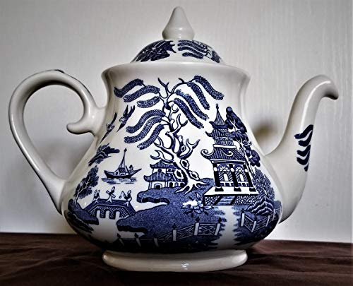 - Blue Willow Teapot & Lid