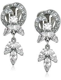 """Pearl and Crystal"" Crystal Heart Earrings"
