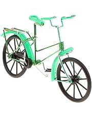 Iron Decorative Bicycle Model Desk Decor, 7.9''L x 2.6''W x 5.5''H - Green, Size(LxWxH): 20 x 6.5 x 14 cm