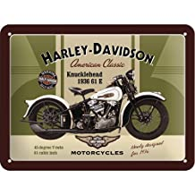 Nostalgic Art 26134 Harley Davidson Knucklehead Tin Plate Sign 15 x 20 CM by Nostalgic Art