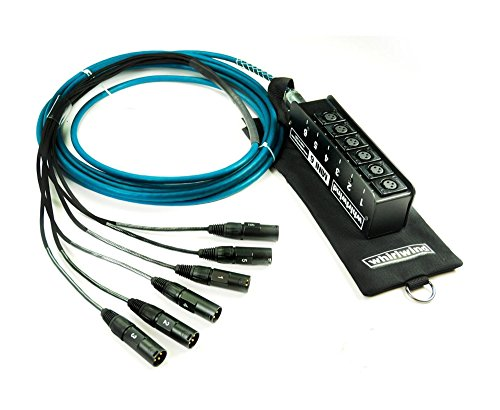 Whirlwind ME-6-M-NR-025 MINI 6 ELITE Snake, Low Profile, 6 XLR Inputs, No Returns, 25 Feet by Whirlwind