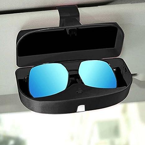 Confezione da 2 porta occhiali da sole per auto occhiali da sole porta occhiali con ticket Card Clip 2 pezzi.
