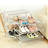 FatColo(R) Portable Easy DIY Home Shoe Cabinet Storage Organizer Racks Simple Stack (3-Tire)