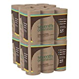 : Seventh Generation Unbleached Paper Towels, 100% Recycled Paper, 6 Count (Pack of 4)