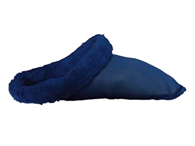 b9665a16f1f5dd cloggis Insoles Liners for Clogs Crocs Mules Shoes Navy Fur Furry Lining (UK  3)