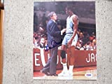 Dean Smith Autographed Hand Signed Photo with Michael Jordan PSA Authenticated COA