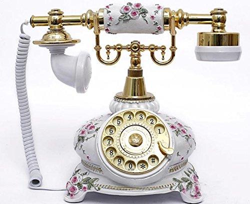 アンティーク電話機 108AS ヨーロッパ風 装飾電話機 回転ダイヤル式 骨董品 クラシック レトロ調   B00MFLQ9YS