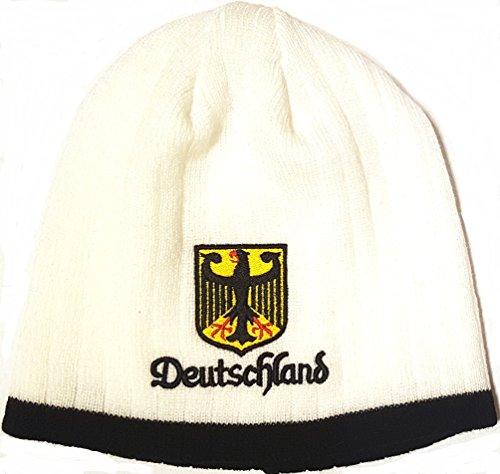 Germany Deutschland Embroidered Beanie Cap Winter Hat - Deutschland Germany