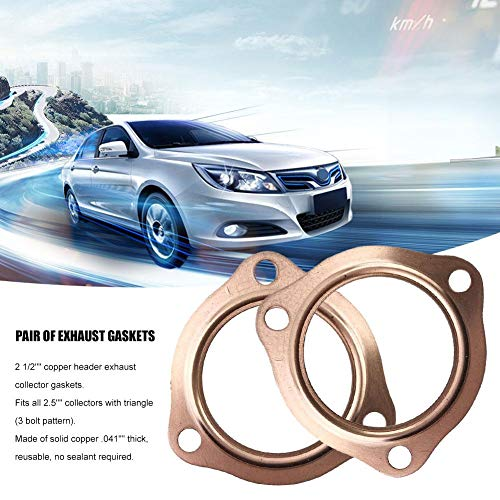 Per Newly Exhaust Gaskets 2 1/2'' Copper Header Exhaust Collector Gaskets Reusable SBC BBC 302 350 454 by Per Newly (Image #5)