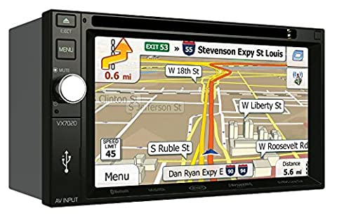 Jensen VX7020 6.2 inch LCD Multimedia Touch Screen Double Din Car Stereo with Built-In Navigation, Bluetooth, CD/DVD Player & USB/microSD (Backup Camera Multi Input)