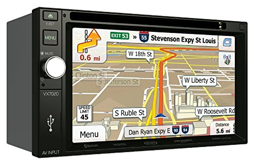 Jensen VX7020 6.2 inch Multimedia Touch Screen Double DIN Car Stereo with Bluetooth & Built-In DVD/USB Port
