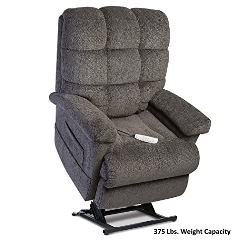 Pride LC-580iM (Medium) Oasis Collection Infinite-Position Lift Chair with Inside Delivery and Setup Option (Saratoga Charcoal, Inside Delivery and - Lift Chair Collection Medium