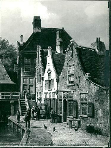Vintage photo of Canal scene in Holland by Willem Koekkoek -
