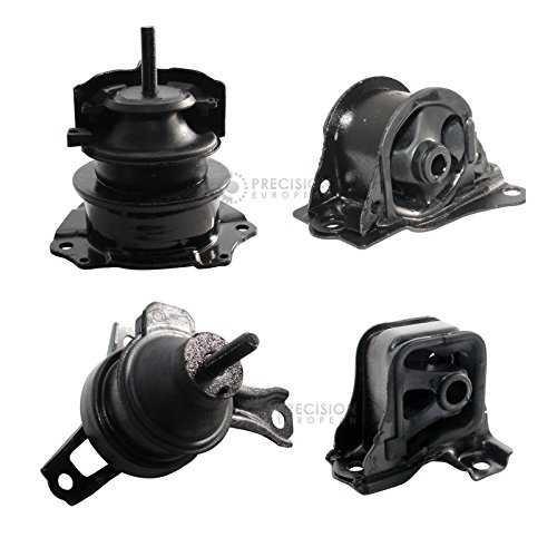 4pc Motor Mounts Set Kit for 98-02 Honda Accord 2.3L 4Cylinder Auto AT Automatic Transmission Trans - 1998 1999 2000 2001 2002 Engine ()