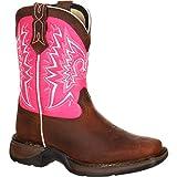 Durango Baby DWBT093 Western Boot, Brown/Pink, 10 M