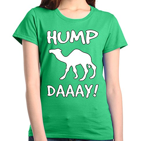 Shop4Ever Camel Commercial Hump Day! Women's T-Shirt Funny Shirts Medium Irish Green0