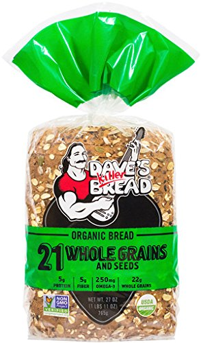 Dave's Killer Bread Organic 21 Whole Grains and Seeds 20.5 ounces (Pack of two)