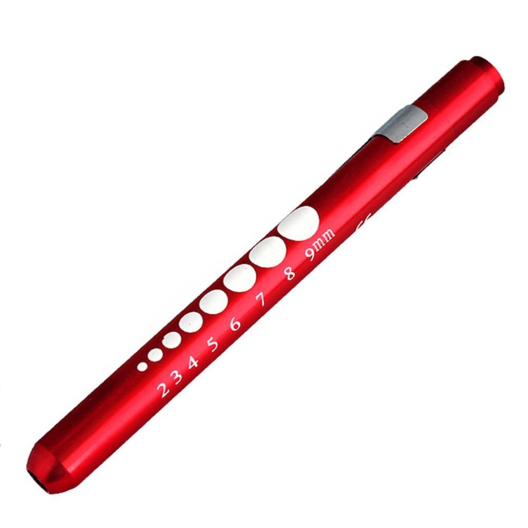 IEason LED Flashlight, Medical First Aid LED Pen Light Flashlight Torch Doctor Nurse EMT Emergency (Red)