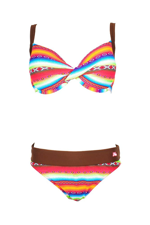 Badeanzug 2 Teile Lolita Angels-Bh cup E Vogue Acapulco Bunt