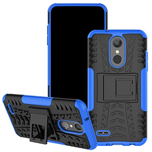 LG Aristo 2 Plus Case, LG Tribute Dynasty/LG Zone 4/LG Tribute Empire/LG K8 2018 Case, Viodolge [Shockproof] Hybrid Tough Rugged Dual Layer Protective Phone Case Cover with Kickstand (Blue)
