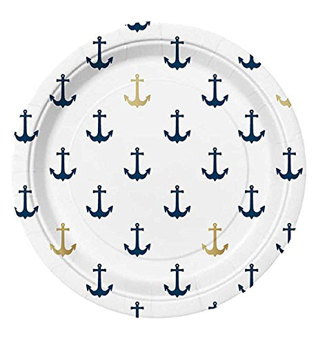 Slant Blue and Gold Foil Anchors 7